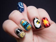 Mythbusters Nail Art on Chalkboard Nails {EDL}