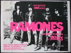 The Ramones concert poster, 1977. Roberta Bayley