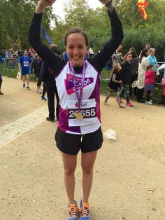 Silvia Crompton at the Royal Parks Half - her first ever race, and in memory of her dad. Well done and thank you for raising an amazing £1300 so far.
