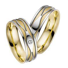 Rauschmayer Eheringe Weiß- und Gelbgold 6mm #eheringe #hochzeit #liebe #paar #ehe #ringe #trauung #gold #silber