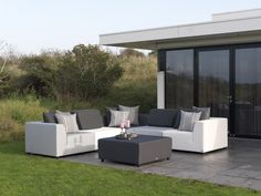 exotan kawan xl lounge gartensofa 3-sitzer teak recycled | teak, Gartenmöbel