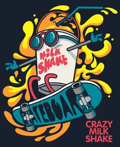 Find Cool Milkshake Skater Vector Design stock images in HD and millions of other royalty-free stock photos, illustrations and vectors in the Shutterstock collection. Graffiti Art, Graffiti Doodles, Graffiti Drawing, Art Pop, Doodle Art Drawing, Art Drawings, Art And Illustration, Vexx Art, Street Art