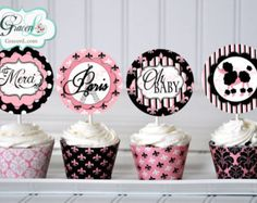 PARIS Party Printable Set - Invitation, Cupcake Toppers, Bunting, Favor Tags…