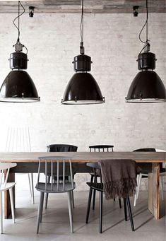 luminaire suspension acier chromé industrielle lamps