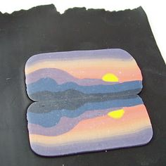 2 Good Claymates: Creating a Landscape Pendant ~ Polymer Clay Tutorials