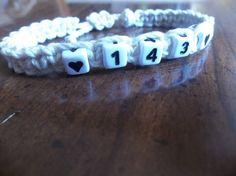 I love you bracelet  143 bracelet  Hemp by CaliGirlCustoms on Etsy