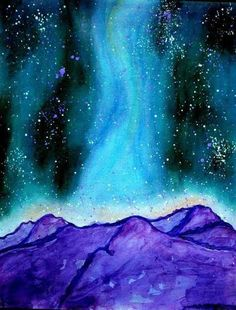Galaxy Painting by KhushbusArt on Etsy