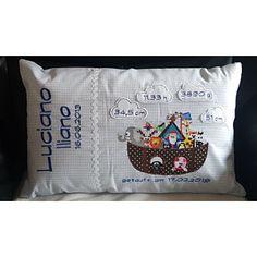 Nathalie Sgandurra hat ein Foto des gekauften Artikels hinzugefügt Custom Pillows, Diaper Bag, Cotton Fabric, Light Blue, Cushions, Blue And White, Hat, Etsy, Cotton Textile