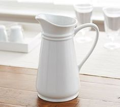 Great White Pitcher #Pottery Barn