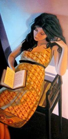 O cão que comeu o livro...: Os livros e a leitura pelo realismo de Joseph Dawson / Books and reading in Joseph Dawson´s paintings