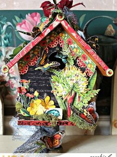 How to Create Graphic 45 Nature Sketchbook Birdhouse