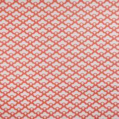Coral/tangerine fabric