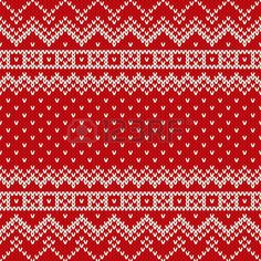 Illustration of Nordic traditional Fair Isle style seamless knitted pattern vector art, clipart and stock vectors. Fair Isle Knitting Patterns, Fair Isle Pattern, Knitting Charts, Loom Patterns, Knitting Designs, Knitting Stitches, Free Knitting, Intarsia Knitting, How To Purl Knit