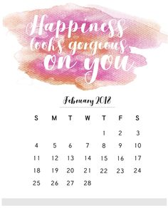 February-2018-Calendar-With-Quotes.jpg (813×1006)