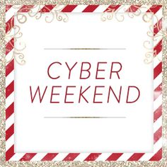 Cyber weekend is here! $5-$25 pieces Thursday night, then up to 50% off site wide now through Monday!