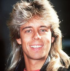 Former radio presenter Pat Sharpe shows us his extremely uncool mullet hairstyle.