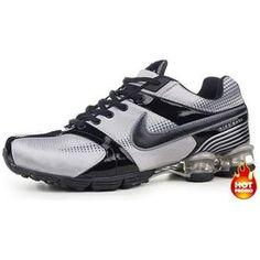 9d4456ce1f941c www.asneakers4u.com Mens Nike Shox R4 Grey Black Nike Shoes Cheap