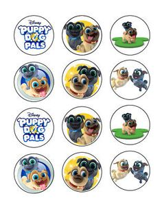 Puppy Dog Pals Edible Cupcake Images Cupcake Toppers - Cakes For Cures Puppy Care, Pet Puppy, Dog Cupcakes, Image Sheet, Edible Cupcake Toppers, Cupcake Images, Online Pet Supplies, Happy Puppy, Cupcake Party