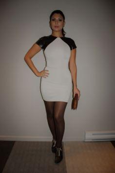 Leather Detail Nude Dress Manuela Yush   #FashionBlog #FashionInspiration #FashionTrends #FallFashion