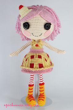 PATTERN Lalaloopsy Cherry Crisp Crust Crochet by epickawaii, $6.99