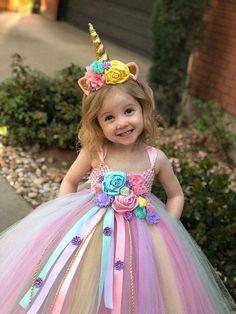 Unicorn Tutu Dress – unicorn birthday dress – unicorn horn – unicorn outfit – birthday dress – halloween costume – unicorn birthday outfit - Reign Tutorial and Ideas