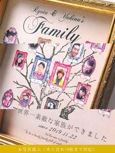 \絶品/ファミリーツリー(家系図)両親へのプレゼントの商品紹介ページです。結婚式アイテム通販ならファルベ。