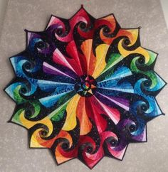 Looking for quilting project inspiration? Check out Rainbow Vortex by member Abbyvb.