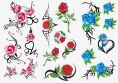 Irish Rose Tattoos | Nontoxic-Body-Tattoo-Temporary-Adults-Flower-Rose-Tattoo.jpg
