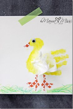 book and craft: Feathered Duck Handprint