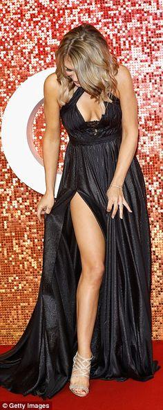 Charlotte Hawkins rocks metallic gown at ITV Gala | Daily Mail Online