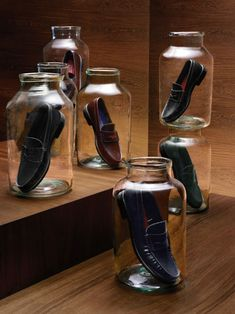 Unusual shoe display