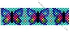 Butterfly Bracelet Bead Pattern By ThreadABead