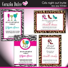 girls night out invites ladies night girls night out pink parties invitation wording
