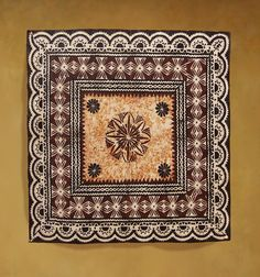 Square new Masi with lace borders.
