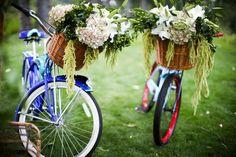 Bike with Flower Basket via elizabethannedesigns