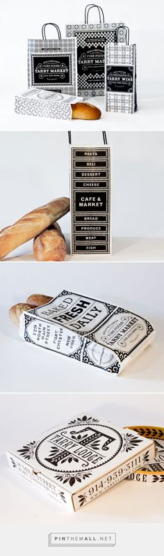 Tarry Market by Memo NY curated by Packaging Diva PD. Great branding packaging in black and white.