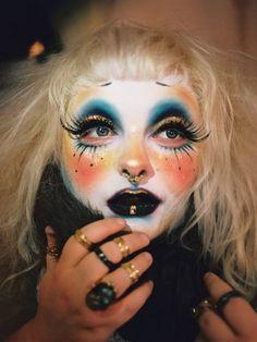 Real Magick: Photographer Bella Newman meets the witches of NYC Makeup Inspo, Makeup Art, Makeup Inspiration, Eye Makeup, Hair Makeup, Clown Makeup, Costume Makeup, Halloween Face Makeup, Makeup Is Life