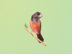 Criadourobitencourtdribbble Origami bird, cubismo, diseño gráfico
