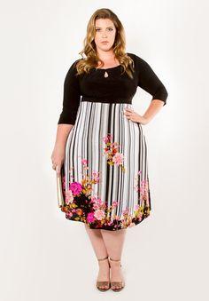 Perfectly Fit Designer Plus Size - Morgan Dress - igigi.com Clothing