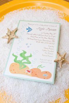 Under the Sea Baby Shower Invite by AllisonBDesigns on Etsy, $3.00