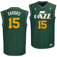Utah Jazz Derrick Favors #15 Alternate Replica Jersey (Green)