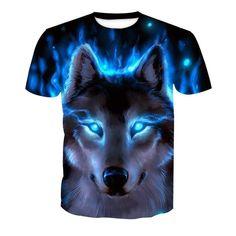 Wolf Print Animal Cool Funny T-Shirt Men Short Sleeve Summer Tops T Shirt Tshirt Male Fashion T-shirt 3d T Shirts, Casual T Shirts, Men Casual, Quote Shirts, Vinyl Shirts, Tank Top Herren, Herren T Shirt, Wolf T-shirt, Graphic Prints