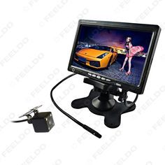 """DC12V 7"""" Headrest Standalone TFT LCD Monitor Witch CCD 4-LED Camera Car Rearview System #FD-3761"""