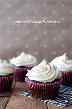 Peppermint Chocolate Cupcakes