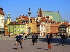 The Old Town of Warsaw Warsaw Old Town, Best Home Interior Design, Poland, Times Square, Old Things, Street View, Popular, World, Travel