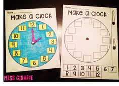 Making clocks - Huge Telling Time blog post with a lot of tips!!: