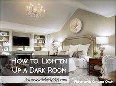 how to lighten up a dark room