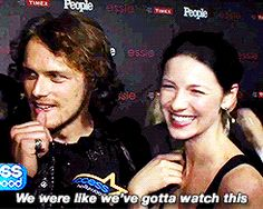 14 Moments Proving Outlander's Sam and Cait Are the Cutest Co-Stars Ever