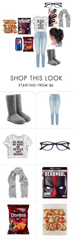 """Couch potatos and pepsi"" by audrey-brooke-zaring ❤ liked on Polyvore featuring UGG and Acne Studios"
