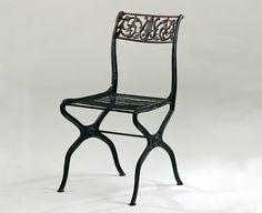 Design Deconstructed: The Barcelona Chair | Karl Friedrich Schinkel's Cast-Iron Garden Chair, 1825 | PC: Image courtesy of Vitra Design Museum | Knoll Inspiration